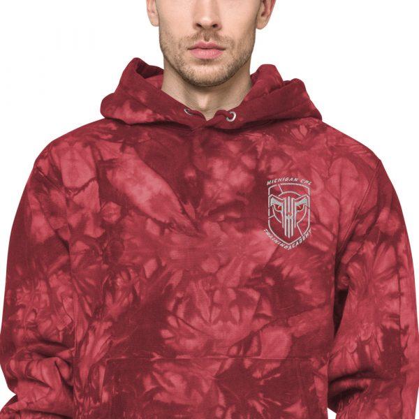 Unisex Champion tie-dye hoodie 11