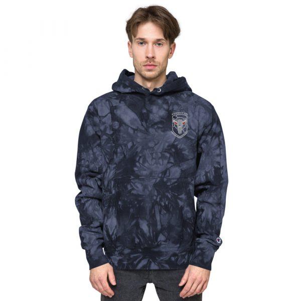 Unisex Champion tie-dye hoodie 7